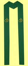 Stola mit gestickten Symbolen des WCRC, in allen liturg. Farben erhältlich. Material 50% Baumwolle / 35% Viskose / 15% Leinen. Art.-Nr. 014-2-5